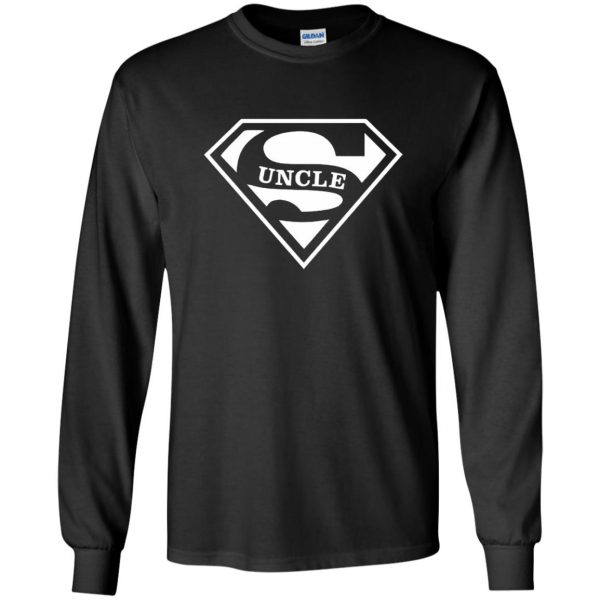 super uncle t shirt long sleeve - black