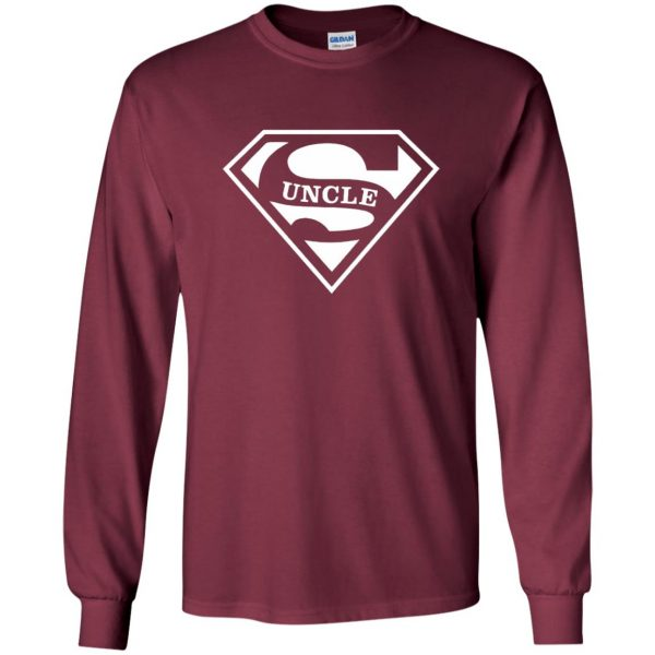super uncle t shirt long sleeve - maroon