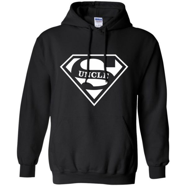 super uncle t shirt hoodie - black