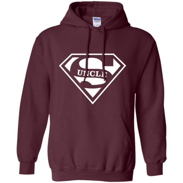 super uncle t shirt hoodie - maroon