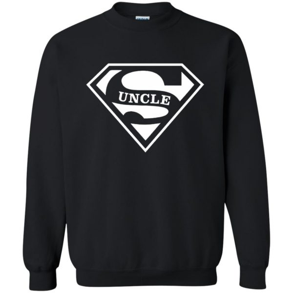 super uncle t shirt sweatshirt - black