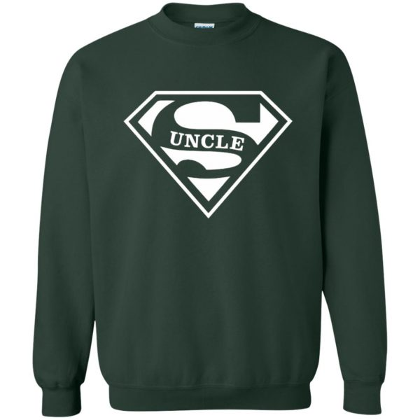 super uncle t shirt sweatshirt - forest green
