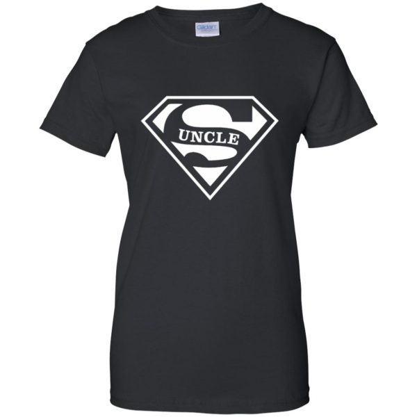 super uncle t shirt womens t shirt - lady t shirt - black