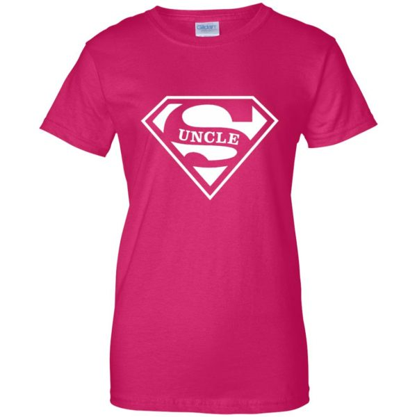 super uncle t shirt womens t shirt - lady t shirt - pink heliconia