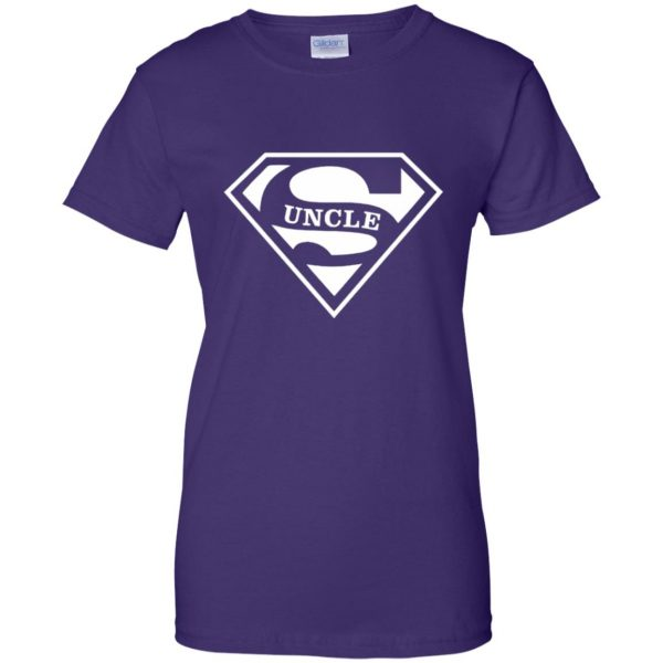 super uncle t shirt womens t shirt - lady t shirt - purple