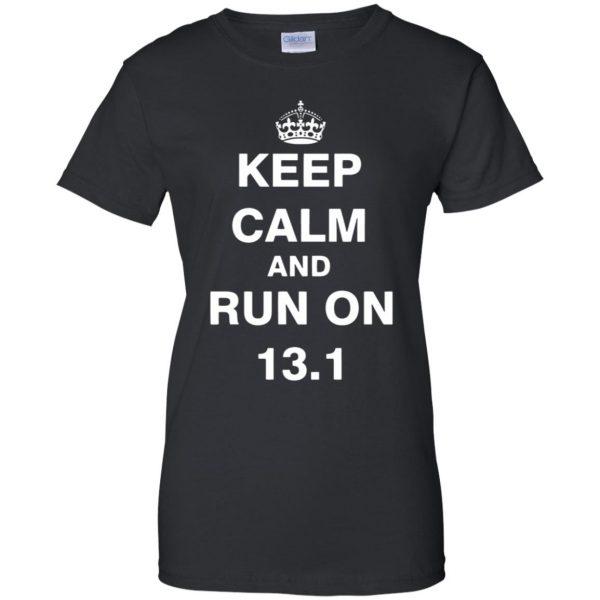 13.1 Half Marathon womens t shirt - lady t shirt - black
