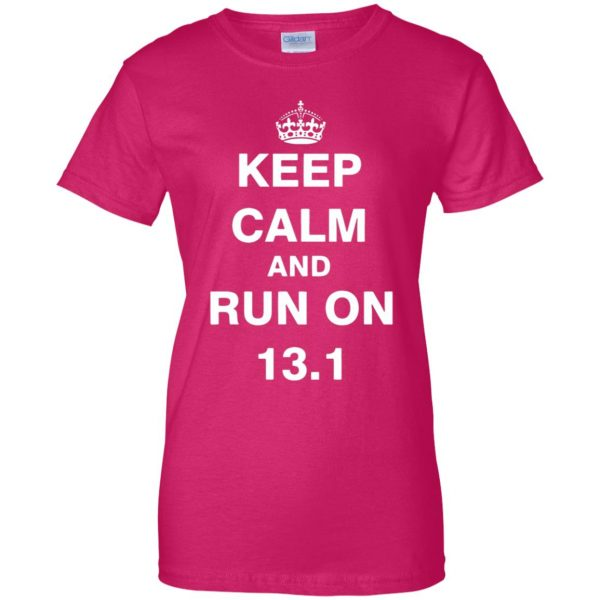 13.1 Half Marathon womens t shirt - lady t shirt - pink heliconia