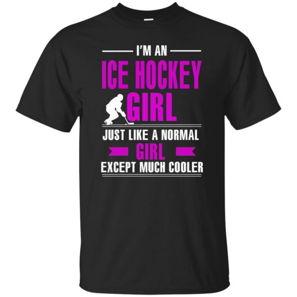 girl hockey shirts - black