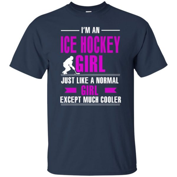 girl hockeys t shirt - navy blue