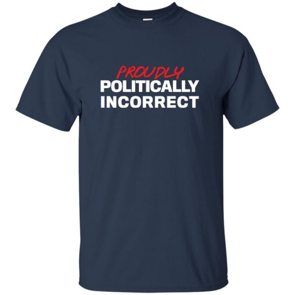 politically incorrect t shirt - navy blue