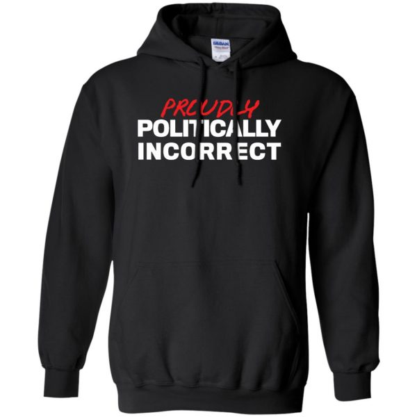 politically incorrect hoodie - black