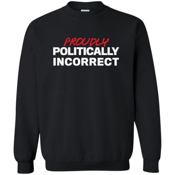 politically incorrect sweatshirt - black