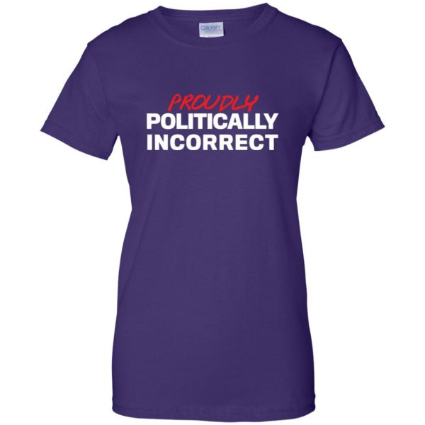 politically incorrect womens t shirt - lady t shirt - purple