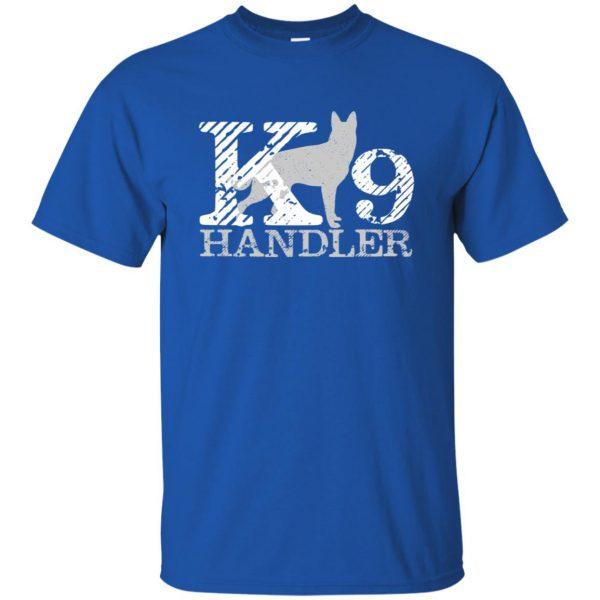k9 handler t shirt - royal blue