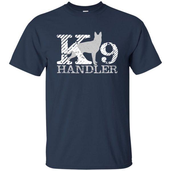 k9 handler t shirt - navy blue
