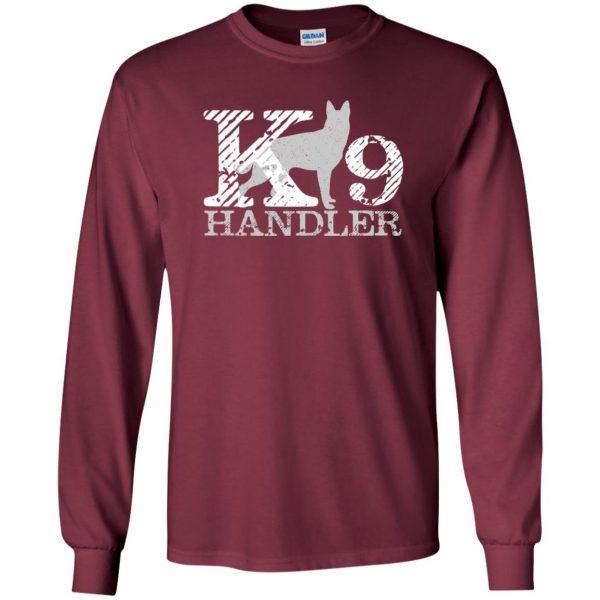k9 handler long sleeve - maroon