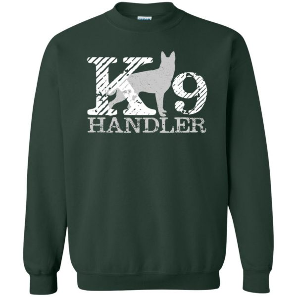 k9 handler sweatshirt - forest green
