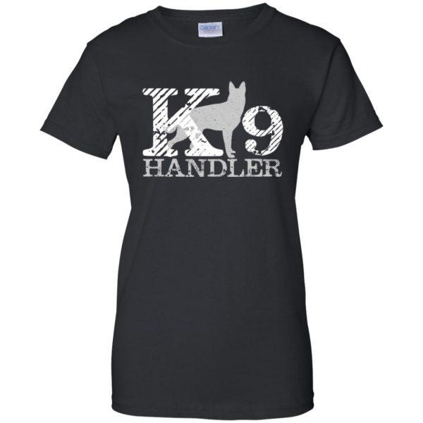 k9 handler womens t shirt - lady t shirt - black
