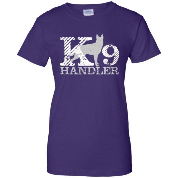 k9 handler womens t shirt - lady t shirt - purple