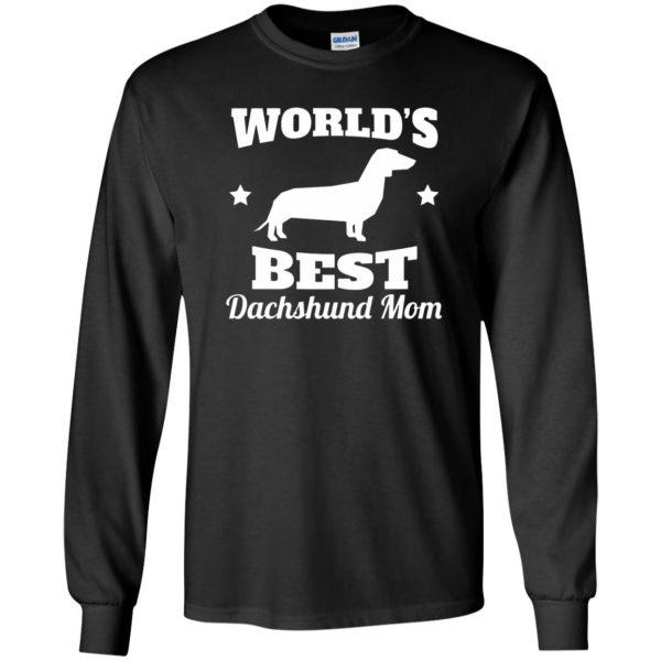 dachshund mom long sleeve - black