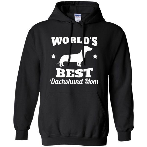 dachshund mom hoodie - black