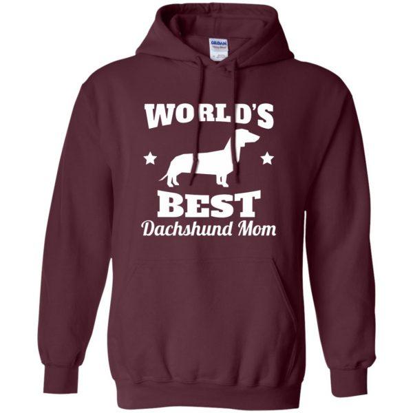 dachshund mom hoodie - maroon