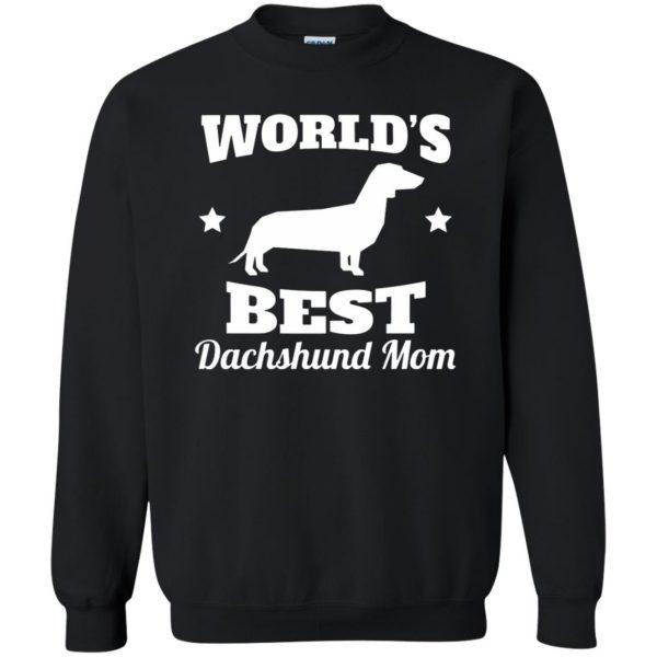 dachshund mom sweatshirt - black