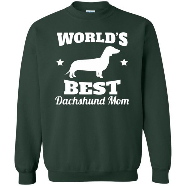 dachshund mom sweatshirt - forest green