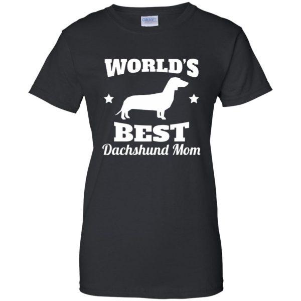 dachshund mom womens t shirt - lady t shirt - black
