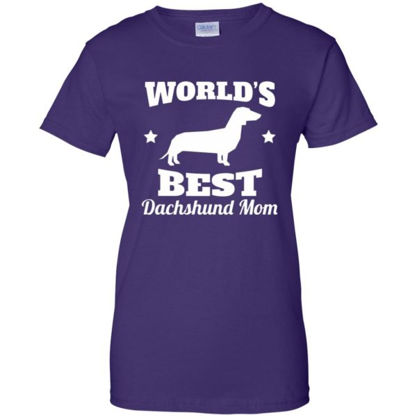 dachshund mom womens t shirt - lady t shirt - purple