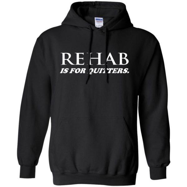 rehab is for quitters hoodie - black