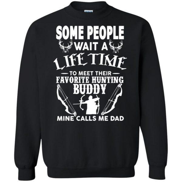 hunting dad sweatshirt - black