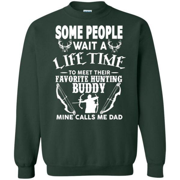 hunting dad sweatshirt - forest green
