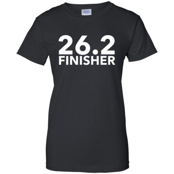 26.2 Finisher womens t shirt - lady t shirt - black