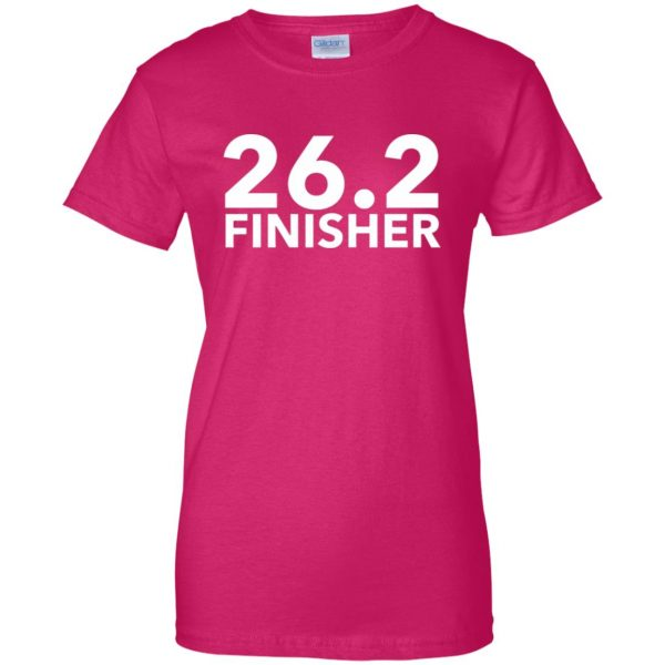 26.2 Finisher womens t shirt - lady t shirt - pink heliconia