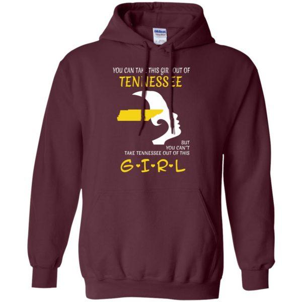 tennessee girl shirt hoodie - maroon
