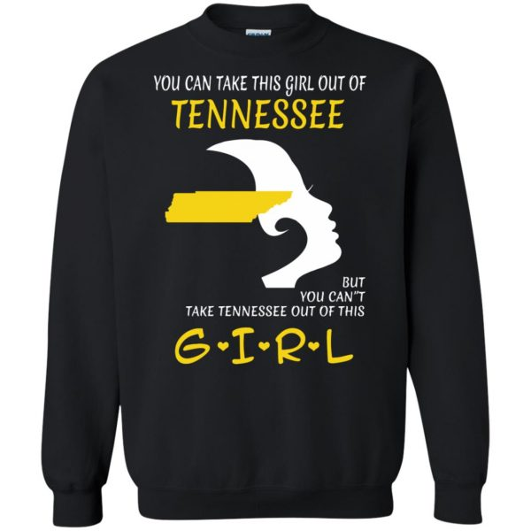 tennessee girl sweatshirt - black