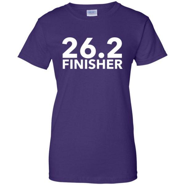 26.2 Finisher womens t shirt - lady t shirt - purple