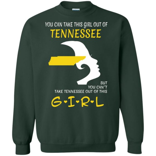 tennessee girl sweatshirt - forest green