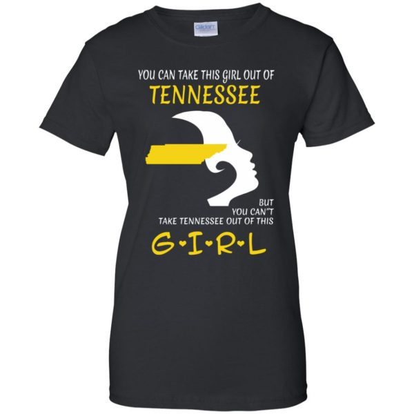 tennessee girl womens t shirt - lady t shirt - black