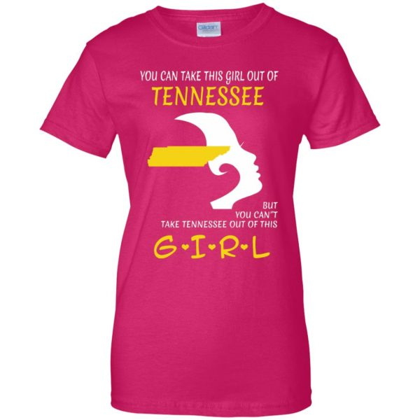 tennessee girl womens t shirt - lady t shirt - pink heliconia