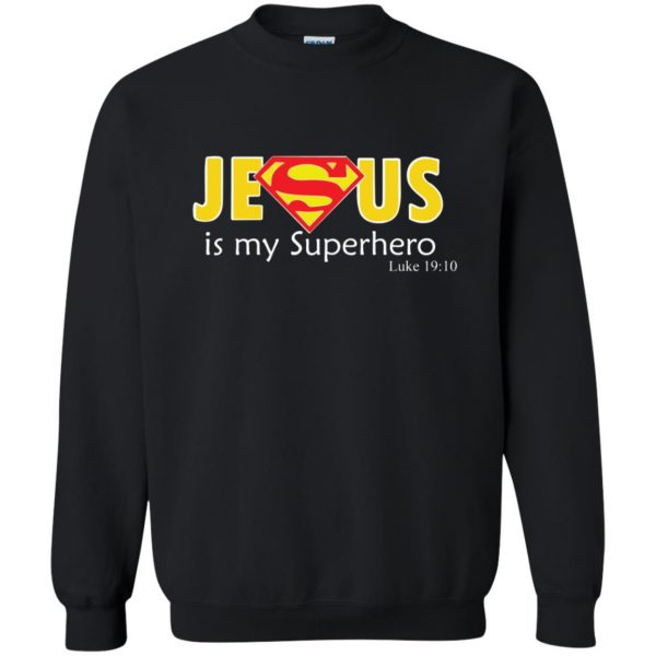 jesus super hero sweatshirt - black
