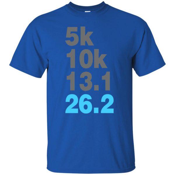 5k 10k 13.1 26.2 Marathoner t shirt - royal blue