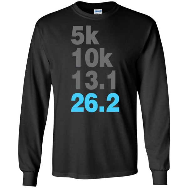 5k 10k 13.1 26.2 Marathoner long sleeve - black