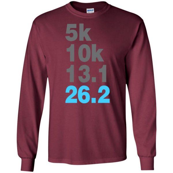 5k 10k 13.1 26.2 Marathoner long sleeve - maroon