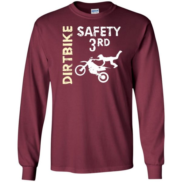 safety 3rd t shirt long sleeve - maroon