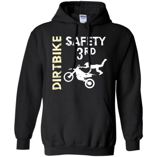 safety 3rd t shirt hoodie - black