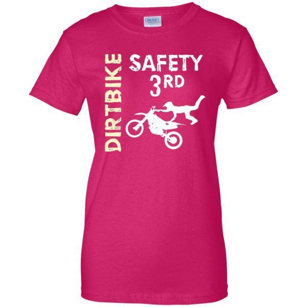 safety 3rd womens t shirt - lady t shirt - pink heliconia