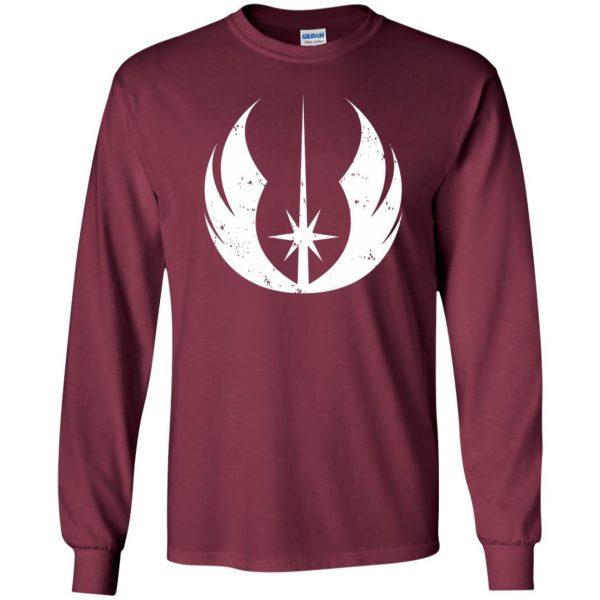 jedi order shirt long sleeve - maroon