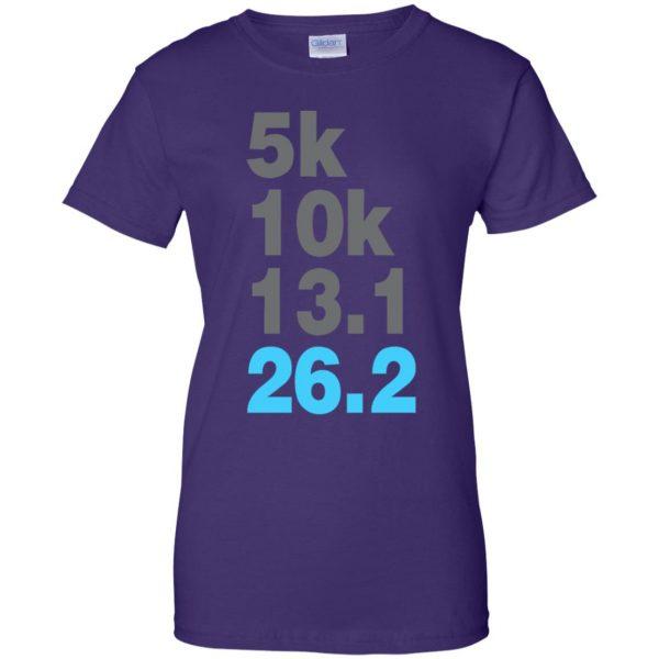 5k 10k 13.1 26.2 Marathoner womens t shirt - lady t shirt - purple